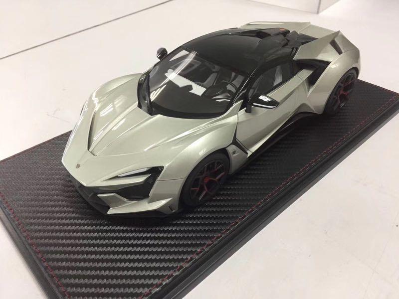 Modelo de coche de resina sophiart wmotors Lykan fenyr Hypersport 1 18 (argento) + Regalo