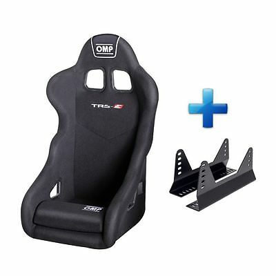 OMP TRS, TR-S Black Velour Fabric Steel Frame Bucket Seat For Race/Rally