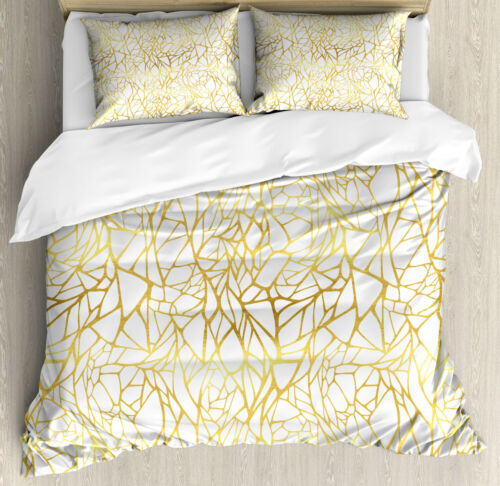 Contemporary Duvet Cover Set with Pillow Shams Abstract Exotic Print
