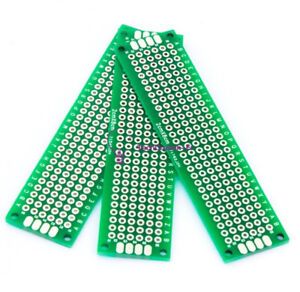 10PCS-Double-Side-Prototype-PCB-Tinned-Universal-Breadboard-2x8cm-20mmx80mm-FR4