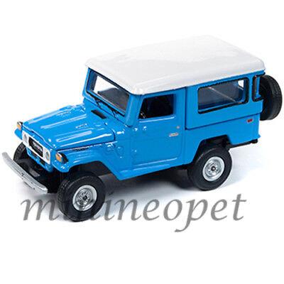 JOHNNY LIGHTNING 1980 TOYOTA FJ LAND CRUISER 1//64 L BLUE with WHITE TOP JLCP7161