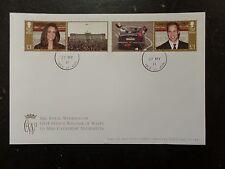 I.O.M. 2011 Royal Wedding 2v + Labels FDC ex commemorative sheetlet FDC