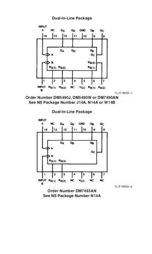 6 pieces MH7490A Decade Counter 7490 IC SN7490AN //  DM7490AN