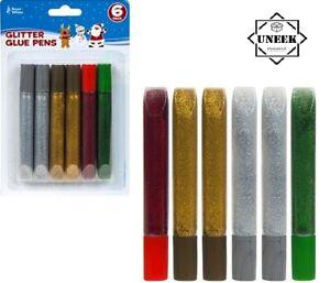 Assorted Pens /& Tubes Fun Childrens Decorating Cardmaking//Scrapbooking GLITTER
