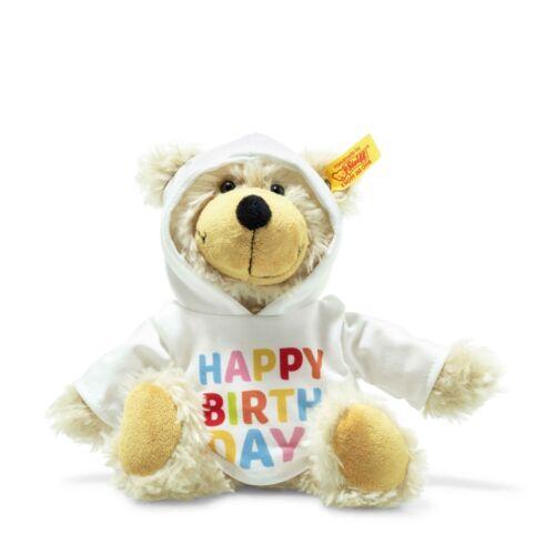 Steiff 012310 Charly Happy Birthday Schlenker-Teddybär mit Kapuzenpullover 23cm
