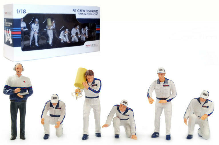 Truescale TSM10AC5 Pit Crew Figurines 'Martini Racing' (Set Of 6) 1 18 Scale