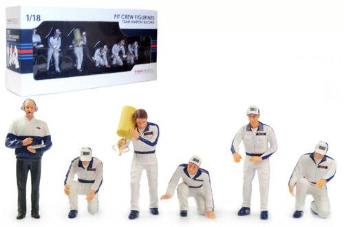 Truescale TSM10AC5 Pit Crew Figurines /'Martini Racing/' Set Of 6 1//18 Scale