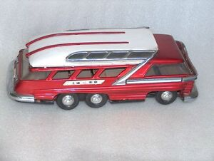 vintage metal motorized toy bus
