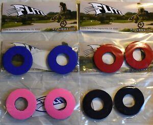 Flite Donuts Skulls for Handlebar Grips on BMX Singlespeed Bike Blue or Black