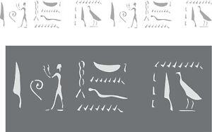 Wanddekor-Wandschablone-Schablone-Malerschablone-aegyptische-Hieroglyphen-1