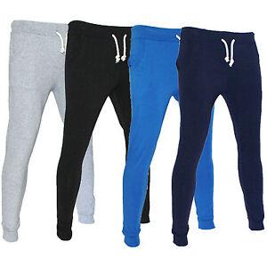 Pantaloni-Tuta-Uomo-Sport-Fitness-Slim-Fit-S-M-L-XL-Blu-Grigio-Azzurro-Nero