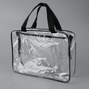 Details about Clear PVC Travel Makeup Bag Cosmetic Toiletry Bag Organizer Zipper 30 x 22cm