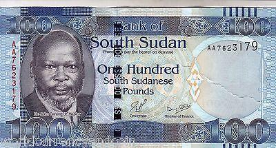 South Sudan 100 Pounds p-15 2015 UNC Banknote