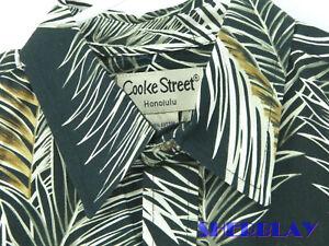 Cooke-Street-Honolulu-Men-039-s-Hawaiian-Camp-Shirt-Size-M-Cotton-Made-In-Hawaii