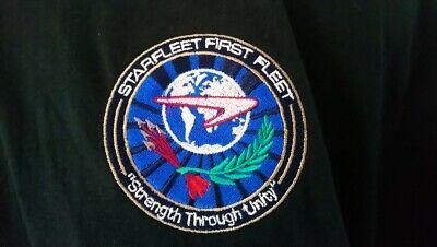 Star Trek Galaxy Silhouette Star Fleet Logo Mens Hooded Sweatshirt