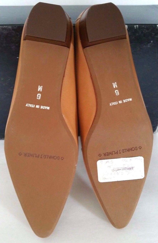 DONALD J Damens PLINER Camel Flip Flops Damens J Leder Schuhes Pointed Toe Sz 6  768f3d