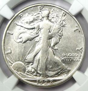 1928-S Walking Liberty Half Dollar 50C - NGC VF Details - Rare Date - Looks XF