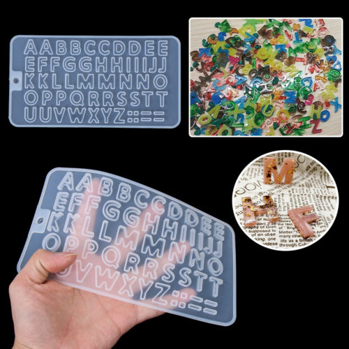 Resin Silicone Molds Letter Epoxy Molds DIY Jewelry Making Keychain Casting Mold