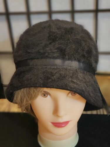 Kangol Furgora Fur Casual Bucket Hat Med Blackish