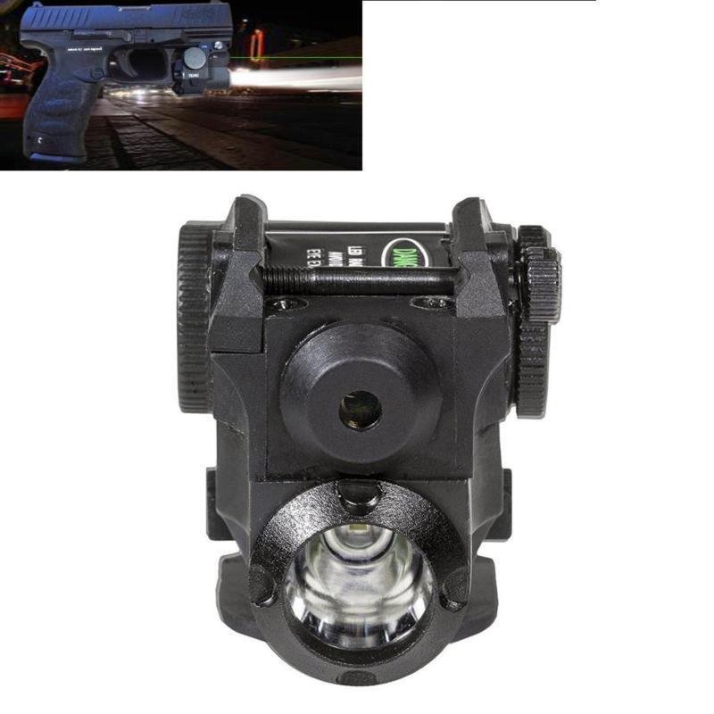 Tactical Green Dot Laser Sight Scope LED Flashlight Combo Hunting Pistol Laser