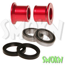 RFX Rear Wheel Spacer Bearing & Seal Kit Honda CRF 150 R 07-17 Red Anodised