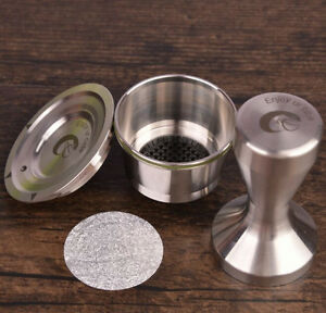 Stainless steel refillable capsule coffee tamper for dolce gusto machine - Distributeur capsule tassimo ...