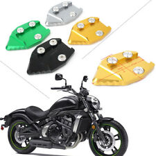 LIWIN Motorbike Accessories Kickstand Foot Side Stand Extension Pad Support Plate for KAWASAKI VN650 Vulcan S 650 EN650 2015 2016 2017 2018 Color : Black