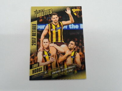 Sports Mem, Cards & Fan Shop 2017 Afl Select Hilites Retiree Card Shr5 Luke Hodge Hawthorn 144/341 Sturdy Construction