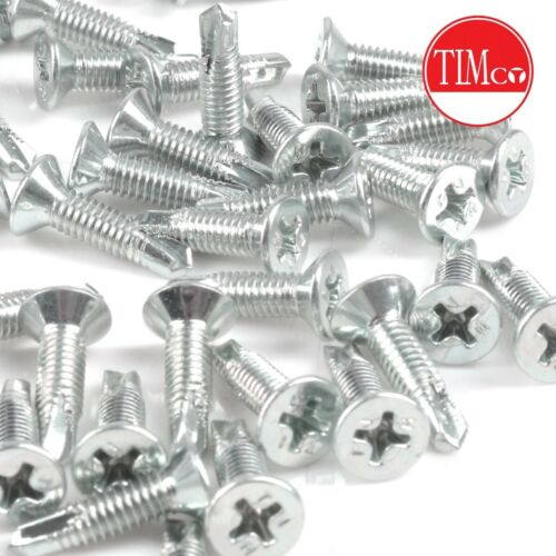 Timco QUALITY SELF-DRILL PVC-u SCREWS Metal Fixing Choose QUANTITY M4.0 x 16mm
