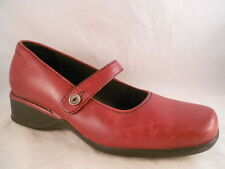 ROCKPORT Size 5 Women Red Leather Mary Janes Loafers Low Heel