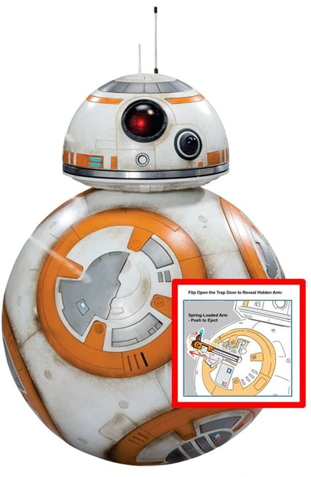 STAR WARS 7 VII FIGURE BB-8 45 CM BB 8 BB8 ROBOT DROID GIANT SIZE DELUXE CINEMA