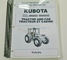 97898 21982 Kubota Illustrated Parts List For M6800 M6800s Tractor And Cab