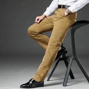 Homme Ex M/&S Pantalon Habillé Costume Coupe Standard Work Smart Actif Ceinture