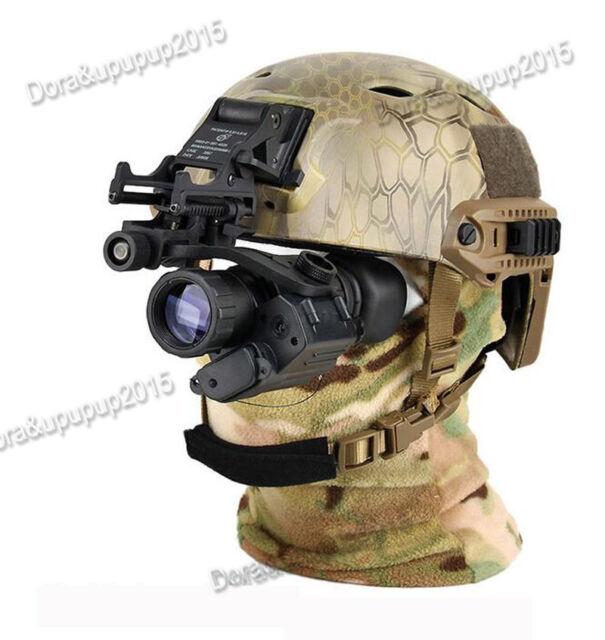 Aoruey Army Helmet With Infrared HD Night-vision Monocular Telescope IR  Digital