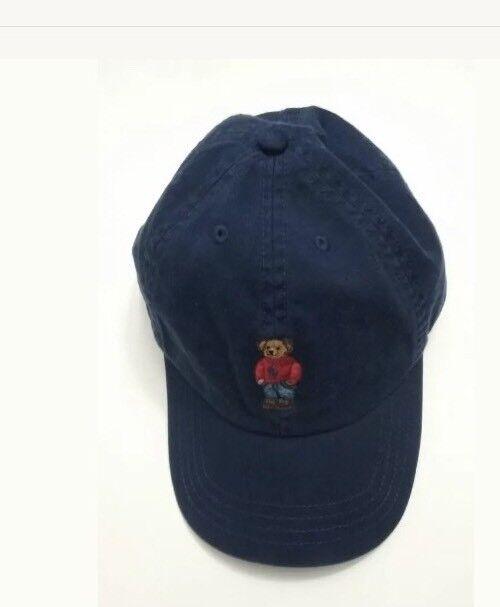 Buy Polo Ralph Lauren Infant Baby Boys Navy Bear Baseball Cap Hat 12m-24m  online  6b0fa7ca625