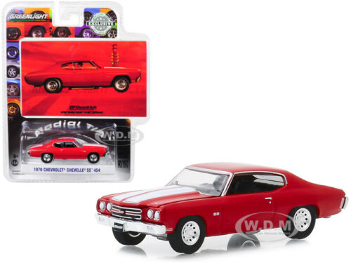 1970 CHEVROLET CHEVELLE SS 454 RED VINTAGE AD CARS 1//64 DIECAST GREENLIGHT 30061