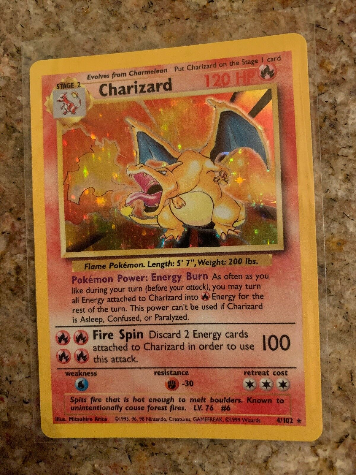 Charizard Holo Rare Base Set Pokemon Card 4 102 NM NM NM 160fa0