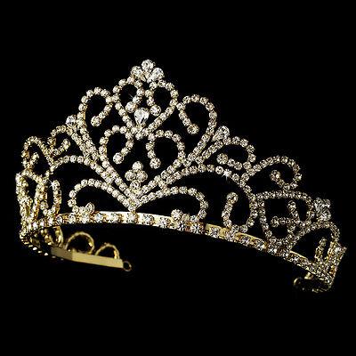 Bijou Femme Accessoire Mariage DiadÈme Corona Mariée Doré Cristal P164 Sentirsi A Proprio Agio