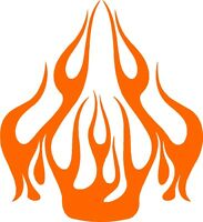 Hood Or Tank Flame Vehicle Graphics Car Vinyl Decals (22 X 24)