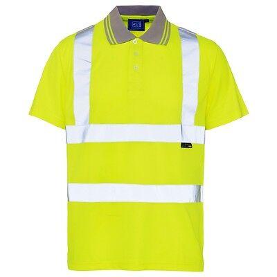 Supertouch Orange High Visibility Mens Work T Tee Shirt Short Sleeve Bird Eye