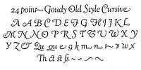 New Letterpress Type- 24pt. Goudy Cursive