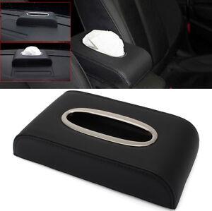 Image is loading Black-PU-Leather-Tissue-Box-Napkin-Car-Home-  sc 1 st  eBay & Black PU Leather Tissue Box Napkin Car Home Office Paper Holder ... Aboutintivar.Com