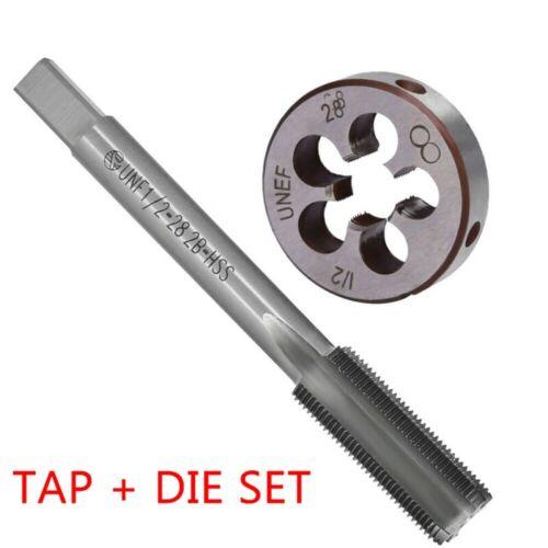 Die Kit 1//2-28 TPI UNEF HSS Tool 2pcs 28 TPI Thread-Per-Inch UNEF 1//2x28 Tap