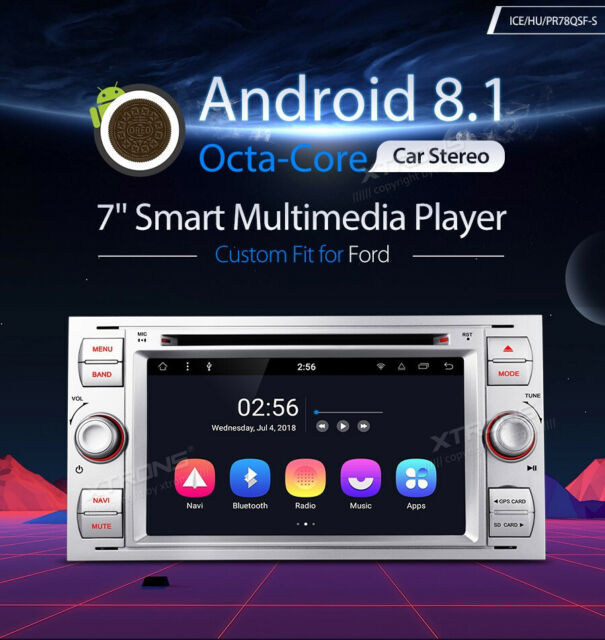 XTRONS PR78QSF-S AUTORADIO GPS FORD KUGA C-MAX S-MAX FOCUS Android 8.1 Wi-Fi 4G