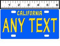 Custom Personalized Aluminum Bicycle Mini State License Plate-california 1970