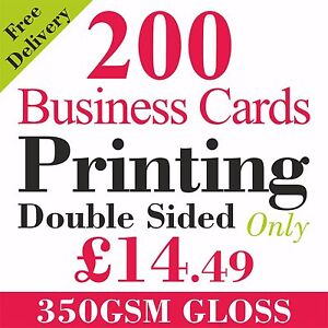 200 full colour business cards printed on 350gsm card ebay image is loading 200 full colour business cards printed on 350gsm colourmoves