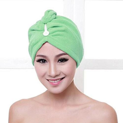 Quick Drying Women/'s Microfiber Bath Towel Hair Dry Hat Cap Lady Bath Tool HOT