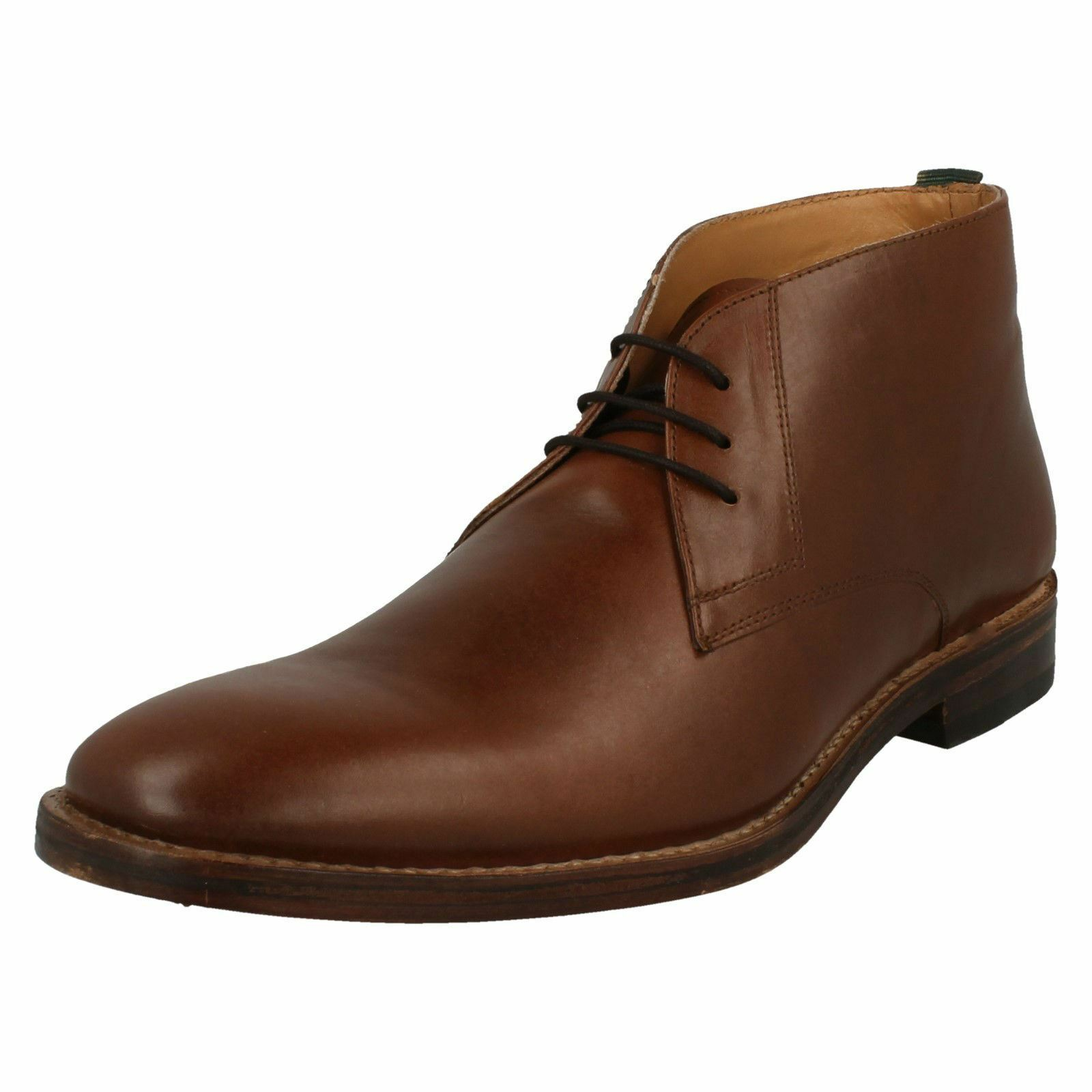 Uomo Catesby Leder Lace Up Fastening Smart Desert Stiefel - 'MRG50504C'