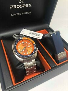 Seiko-Limited-Edition-Nemo-Orange-Turtle-200M-Men-039-Watch-SRPC95K1