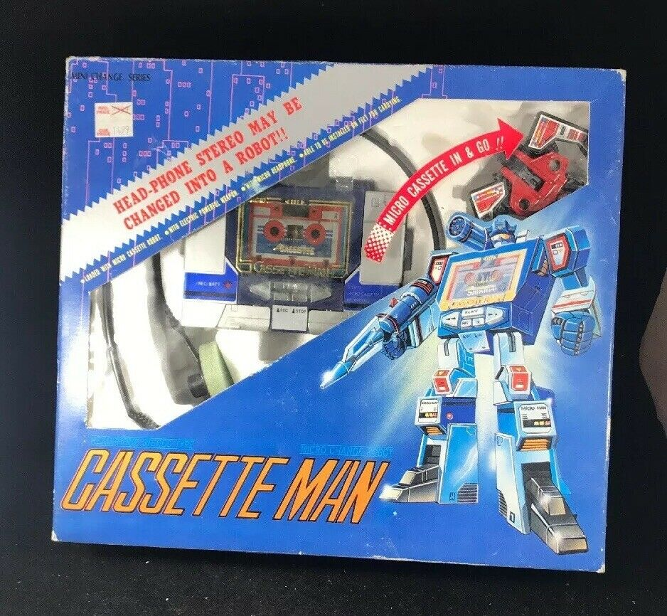 G1 Pretransformerare Micro Change Cassette Man Taiwans version MIB Soundwave